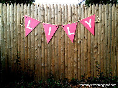 personalized giant wood bunting