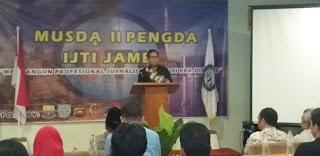 Ketua IJTI Pusat Buka Musda II Pengda IJTI Jambi