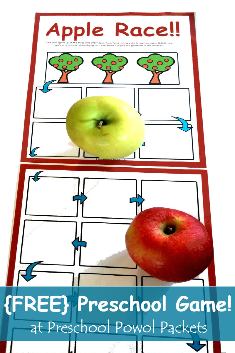 free apple race preschool game preschool powol packets