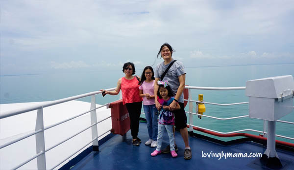 FastCat Ferry Bacolod-Iloilo - Shane - homeschooling - homeschooling in Bacolod - observing nature - Bacolod blogger - Bacolod mommy blogger - FastCat Ferry business class - viewing deck