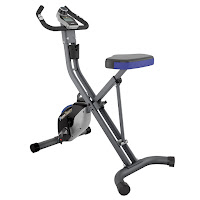 Fitness Reality U2500 Super Max Foldable Magnetic Upright Exercise Bike, with precision-balanced flywheel, v-belt drive, 8 resistance levels, large seat, 3-piece crank