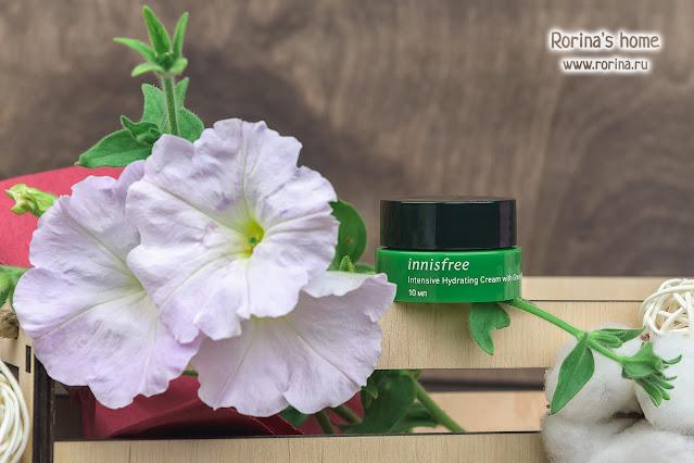 Innisfree Интенсивный увлажняющий крем на основе семян зеленого чая Intensive Hydrating Cream with Green Tea Seed: отзывы с фото