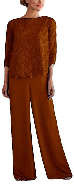 Brown Mother of The Bride Pants Suit