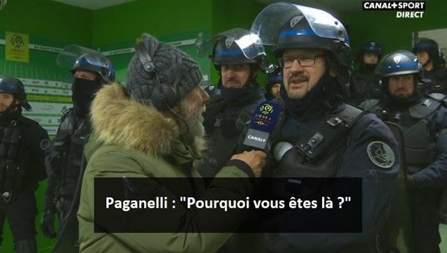 L'échange énorme entre Paganelli et un CRS après ASSE-Monaco