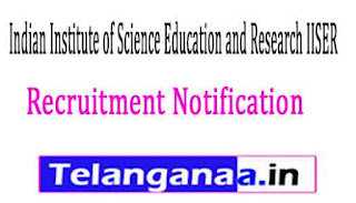 Indian Institute of Science Education and Research IISER Bhopal Recruitment Notification 2017
