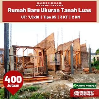 Jual Rumah Bonus Gratis Pagar Rumah Dan Teralis, Sisa 2 Unit Di Jl Eka Rasmi - Eka Nusa Medan