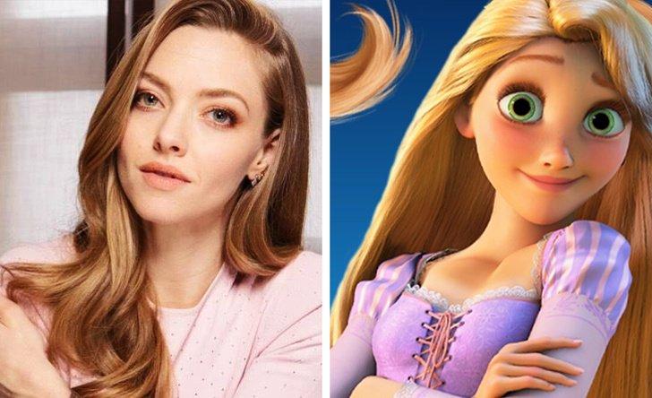 Amanda Seyfried como Rapunzel, de Rapunzel