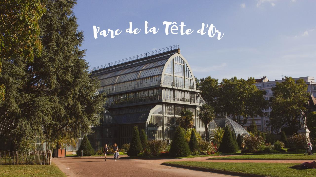 An image of a botanical greenhouse in Lyon's Parc de la Tête d'Or