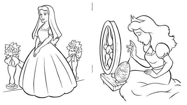 Jogo 60 Desenhos Da Princesa Bela Adormecida Para Colorir
