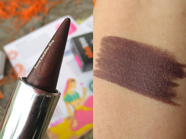 SoulTree Ayurvedic Kajal Color Kohl in 007 Rich Loam Swatch