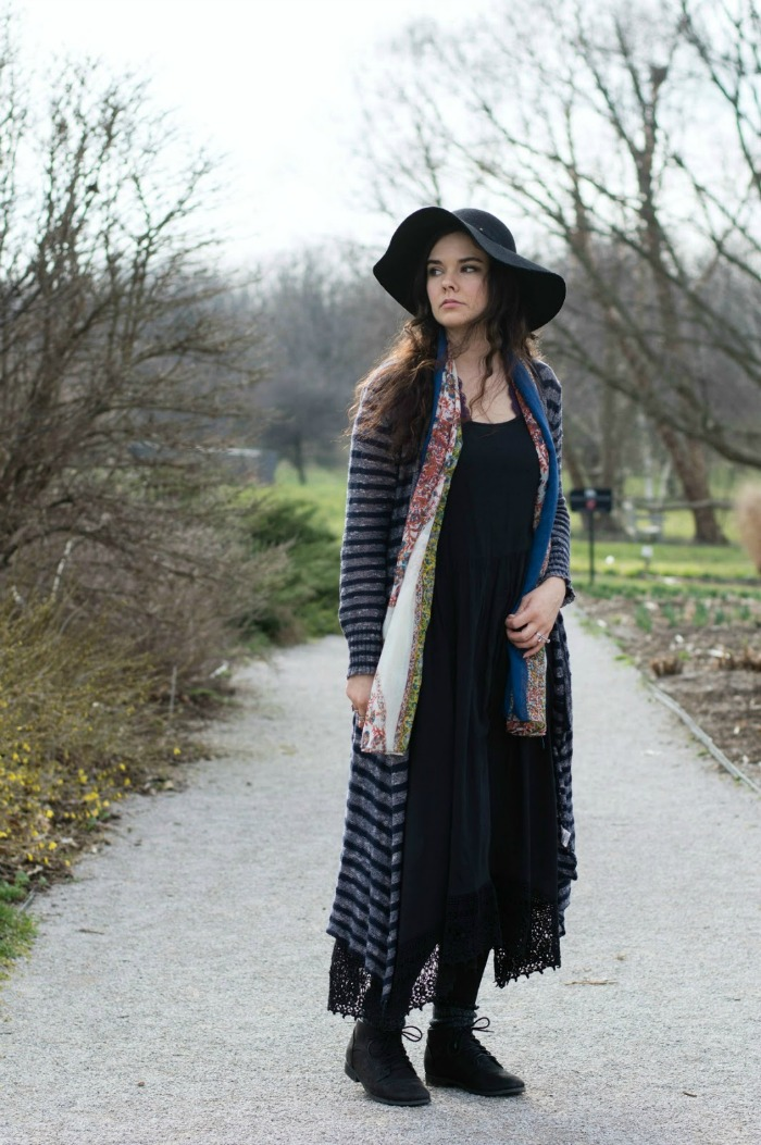 how to wear a maxi cardigan with a dress