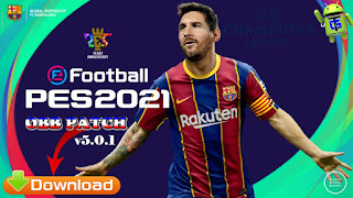 Download PES 2021 Mobile Patch UCL v5.0.1 Android Full License