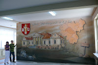 Obraz malowany na ścianie, mural ścienny Gdzńsk
