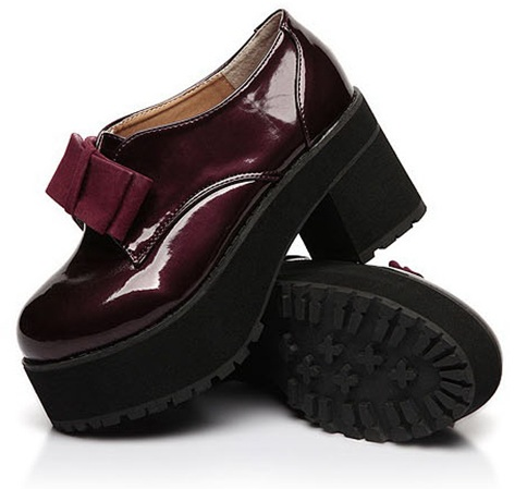 eBay Burgundy Chunky Shoes