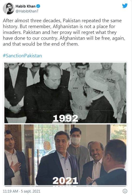 Bernard Grua Habib Khan: «Le Pakistan et son supplétif regretteront ce qu'ils ont fait à notre pays. L'Afghanistan sera à nouveau libre, et ce serait leur fin.»