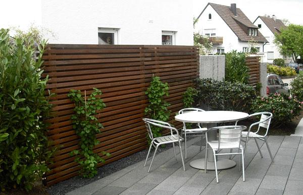 Reihenhausgarten Sichtschutz gartenblog geniesser garten sichtschutz