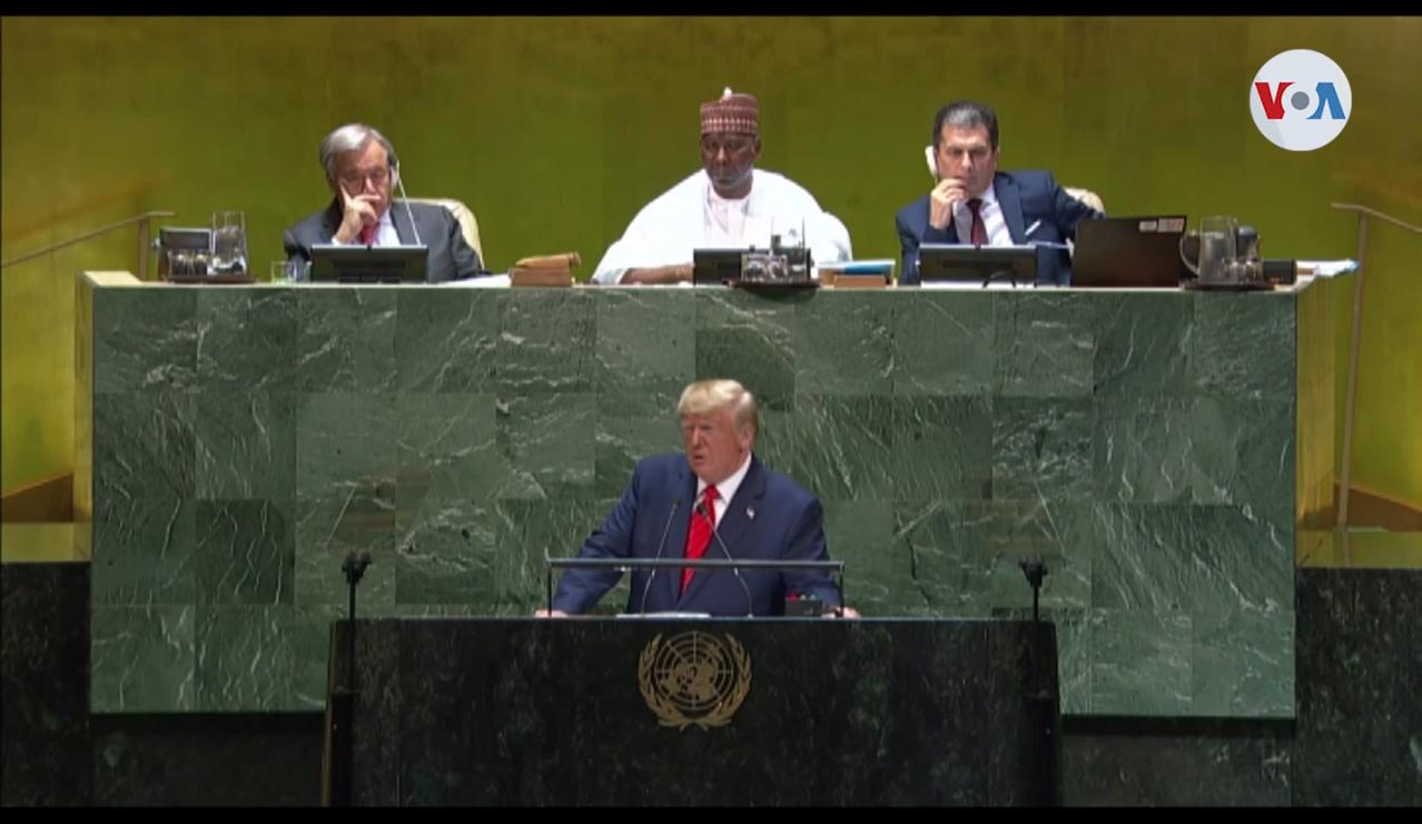 Donald Trump se dirigió el martes 24 de septeimmbre de 2019 a la 74 Asamblea General de la ONU / VOA