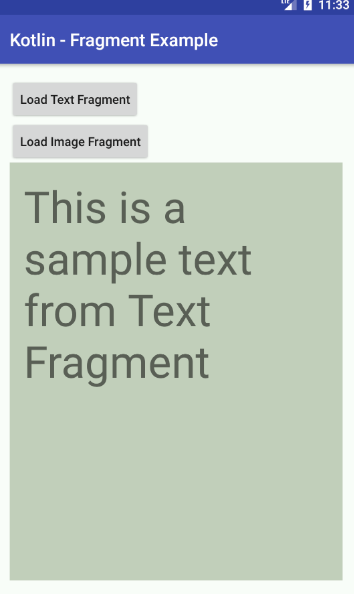 android kotlin - Fragment example