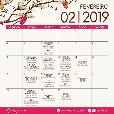 Aulas de Confeitaria - Fevereiro 2019