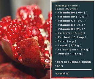 kandungan nutrisi buah delima