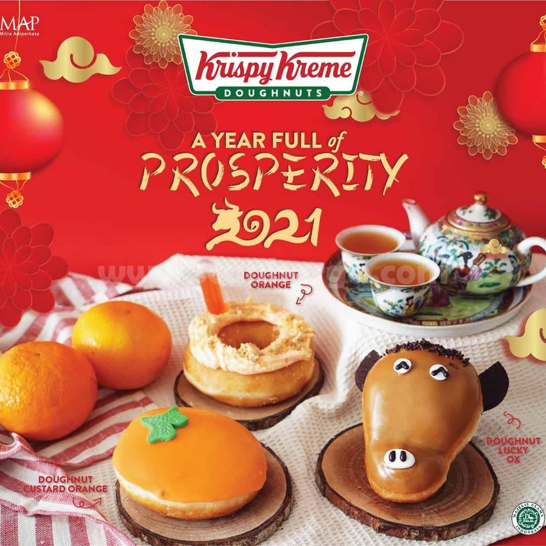 Krispy Kreme Special Chinese New Year! Donat Custard orange hanya Rp 12.000pc