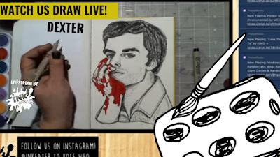 Drawing Dexter Morgan from Dexter - Come Hang Out - Live Time Lapse!