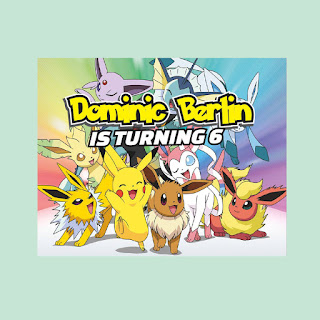 Desain Banner Ultah Anak Motif Pokemon