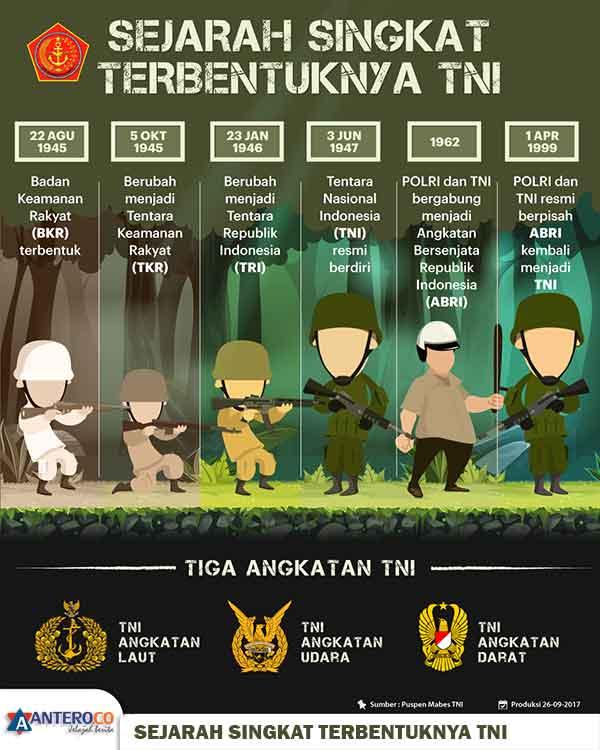 Sejarah Singkat Terbentuknya TNI