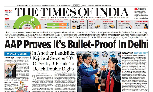 Times Of India Epaper 12th February 2020