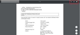 Donload dan print pdf pada tab yang tersedia