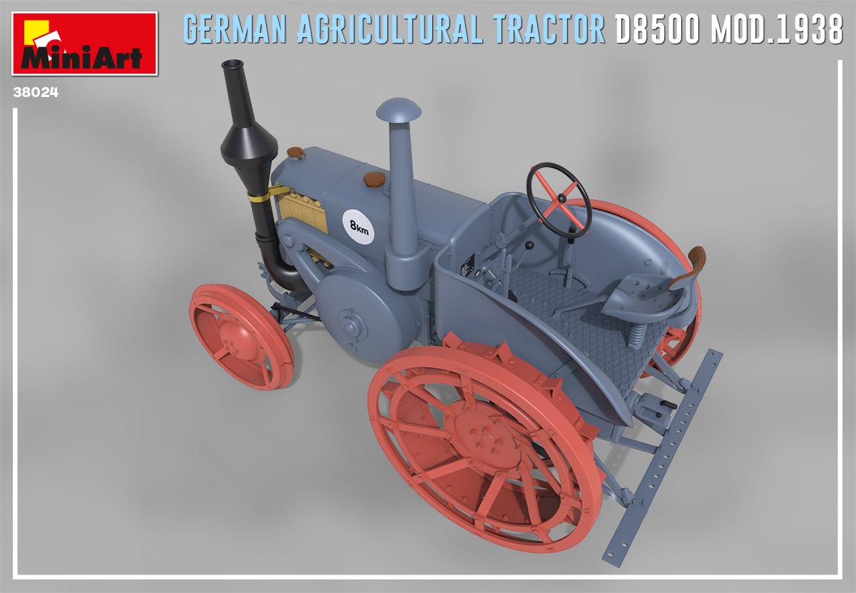 Neu 1938 Miniart 38024-1:35 German Agricultural Tractor D8500 Mod