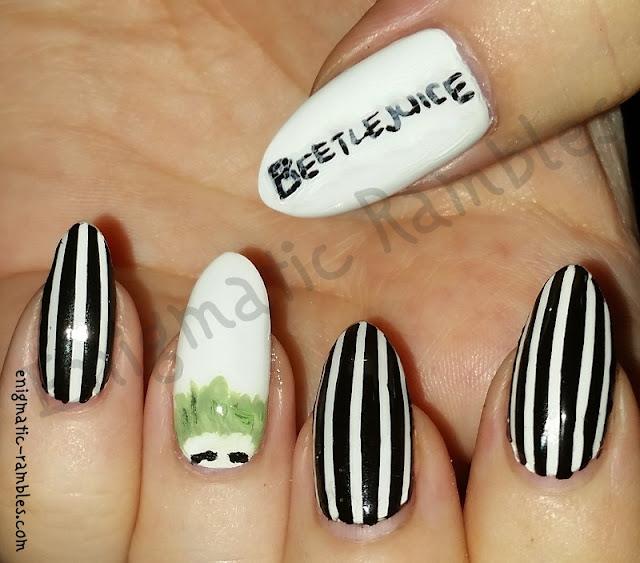 Halloween-Beetlejuice-Nails-Nail-Art