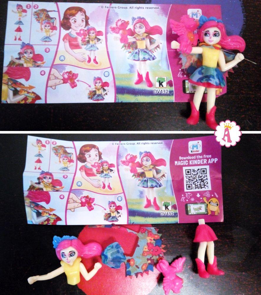 Куколки Peeki Parrot и Sheeny (Попугай Пикки с Шини) DV432 киндер сюрприз Энчантималс