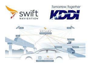 KDDIが移動に強くセンチメートル単位の高精度の位置測位サービス提供に向けて米Swiftと提携