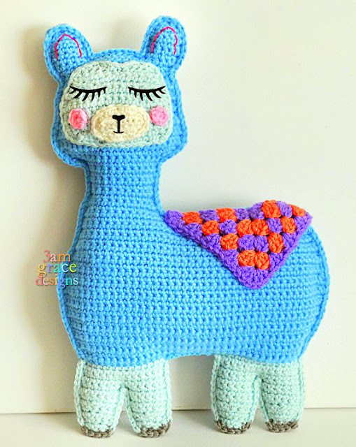 Llama alpaca Kawaii Pillow Cuddler Crochet Pattern