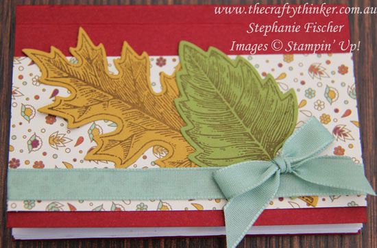 Stamin Up, #thecraftythinker, Thanksgiving, Table Setting, Cutlery holder, pouch, mini journal, Vintage Leaves, Stampin Up Australia Demonstrator, NSW