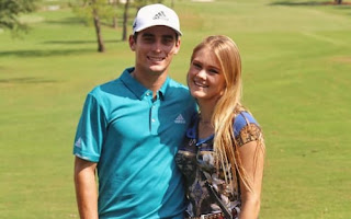Joaquin Niemann And His Girlfriend Christina Hellema Puga On The Course
