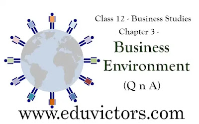 CBSE Class 12 - Business Studies - Chapter 3 - What is a Business Environment? (Q n A)(#eduvictors)(#Class12BusinessStudies)