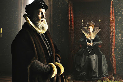 David Thewlis as William Cecil and Joely Richardson as Young Elizabeth I, Directed by Roland Emmerich