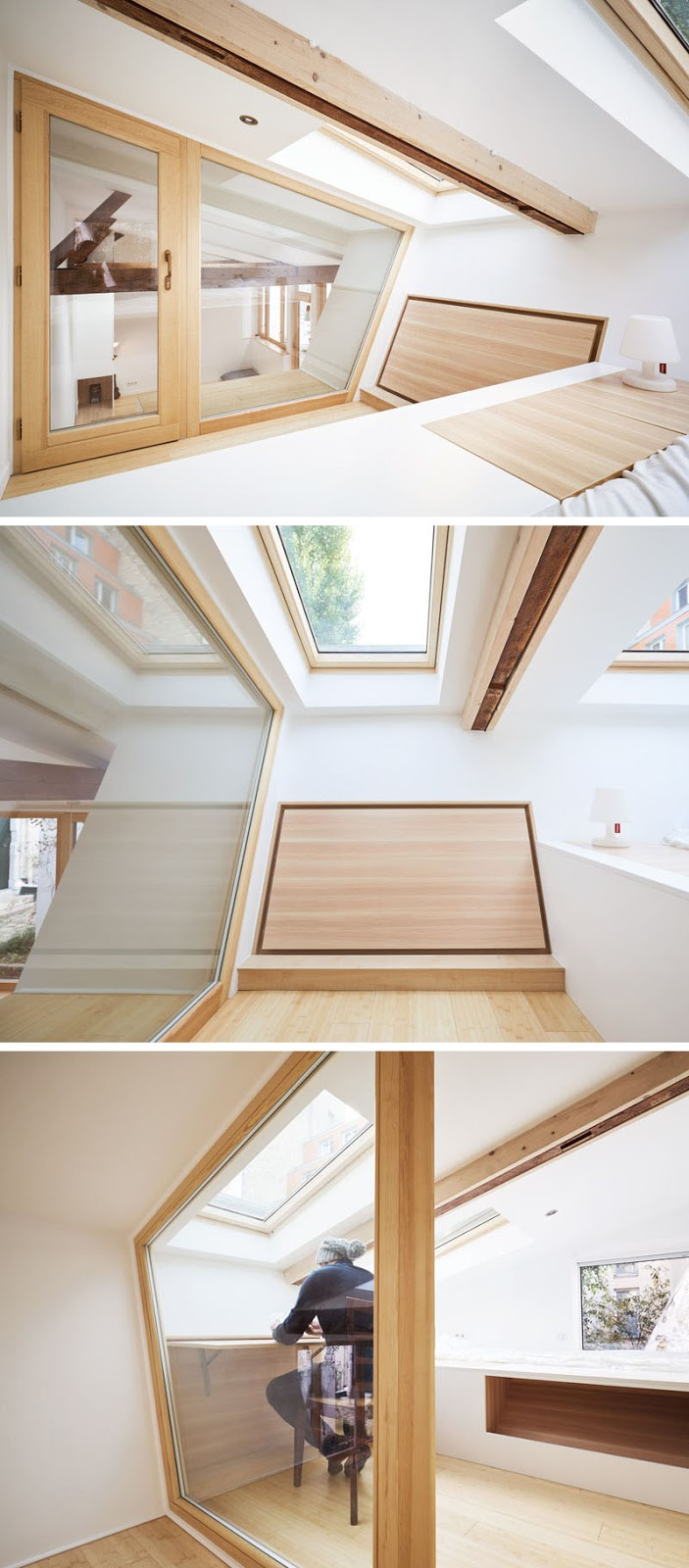 lofted-work-space-with-foldout-desk-120318-1250-11 This 1970s Studio Was Transformed Into A Bright And Open Small Home (Before & After) Interior