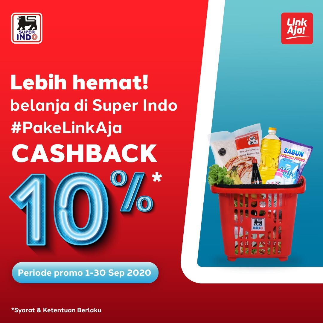Promo Superindo Cashback 10% - Belanja Jadi Lebih Hemat Pakai LinkAja