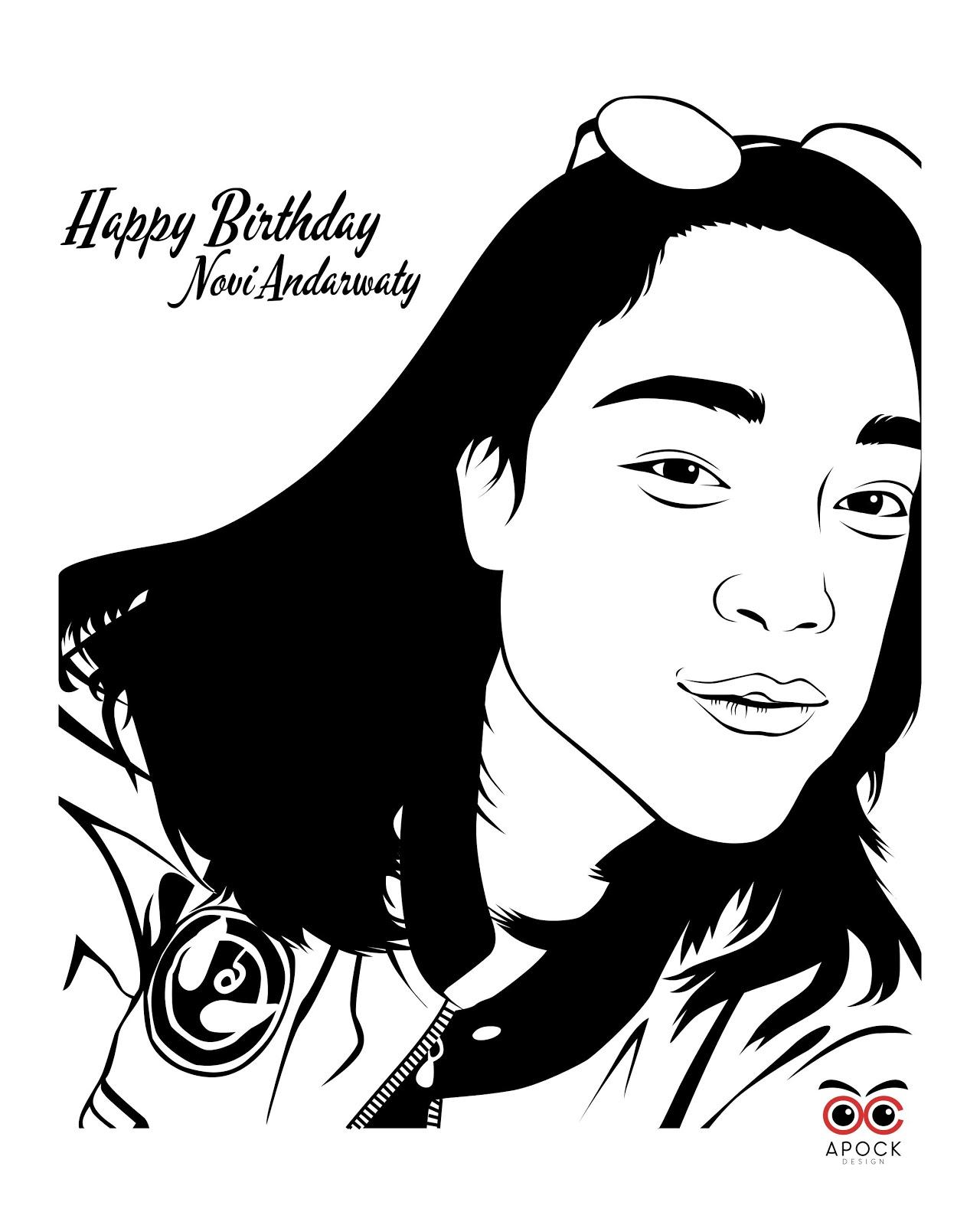 Jasa Desain Wajah: Jasa Line Art Surabaya