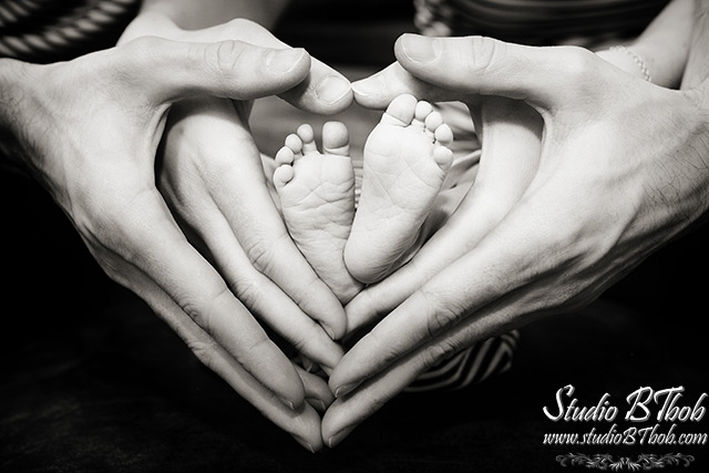 Photo des pieds de bébé