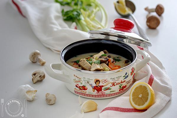 Pileća, krem, supa sa pečurkama