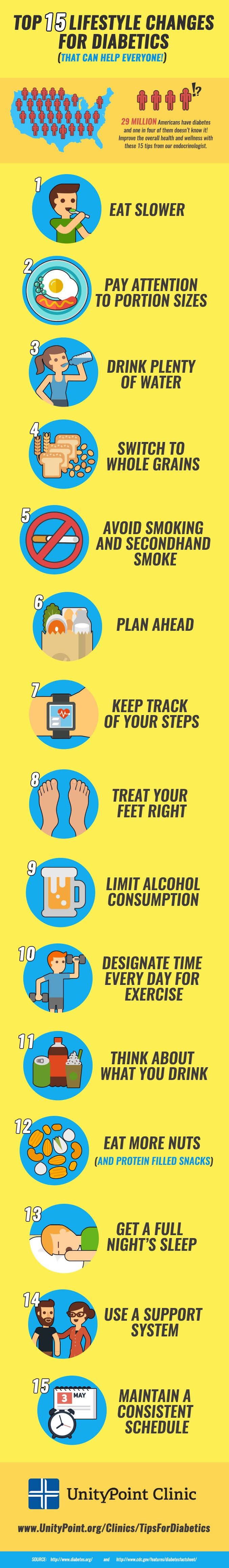 15 Surprising Tips for Diabetics that Can Help Everyone #infographic