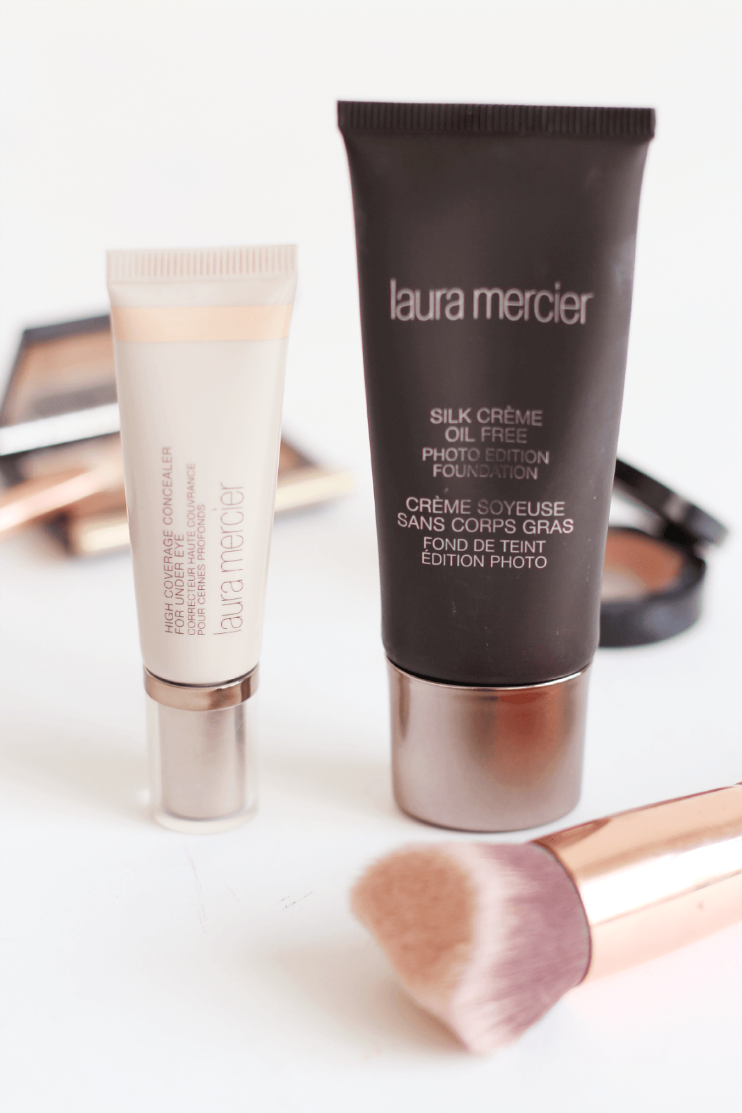 Laura Mercier Silk Creme Oil Free Photo Edition Foundation and High Coverage Concealer review