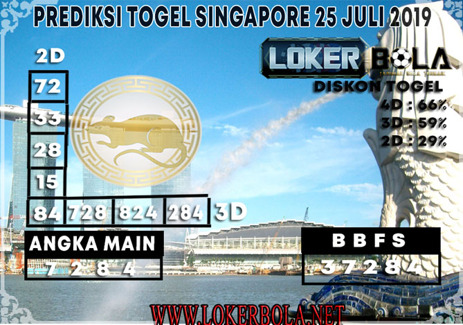 PREDIKSI TOGEL SINGAPORE LOKERBOLA 25 JULI 2019