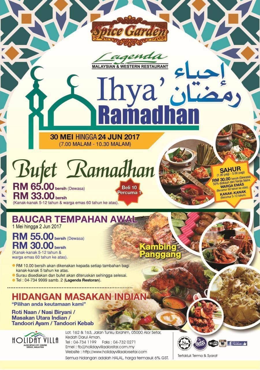 Buffet Ramadhan holiday villa alor setar kedah