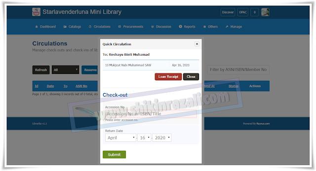 Sistem simpan buku yang senang dan percuma untuk akses bagi mini perpustakaan