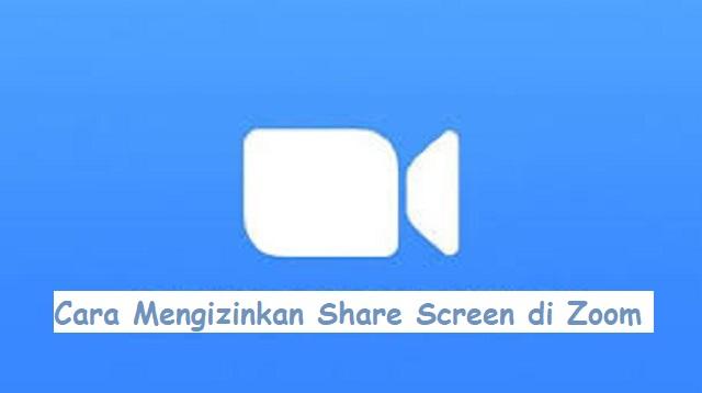 Cara Mengizinkan Share Screen di Zoom